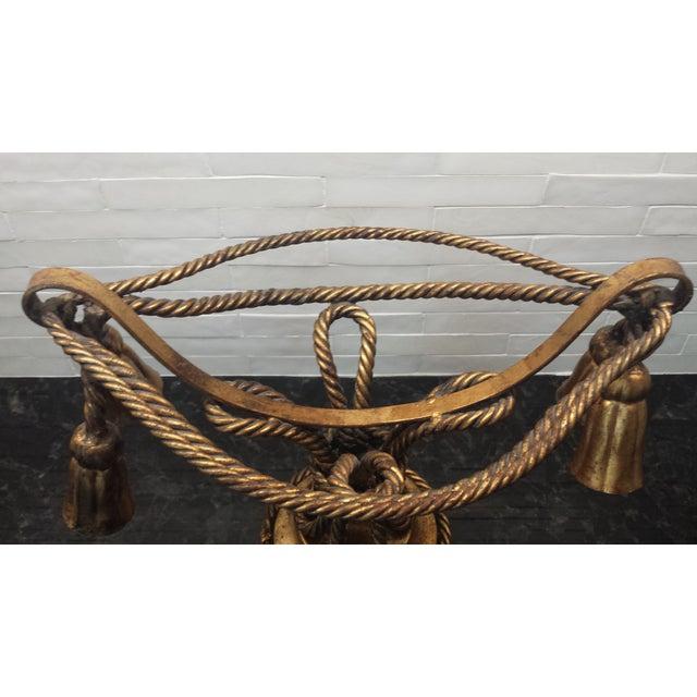 Image of Mid Century Italian Gilt Rope & Tassel Compote
