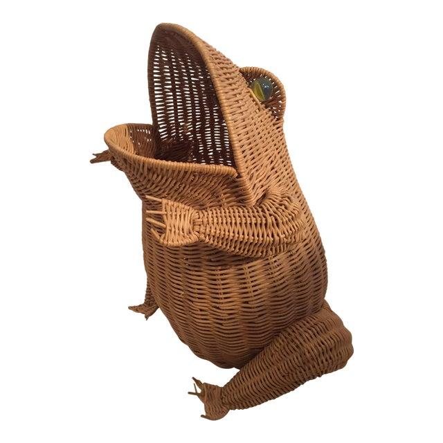Vintage Wicker Frog Basket - Image 1 of 4