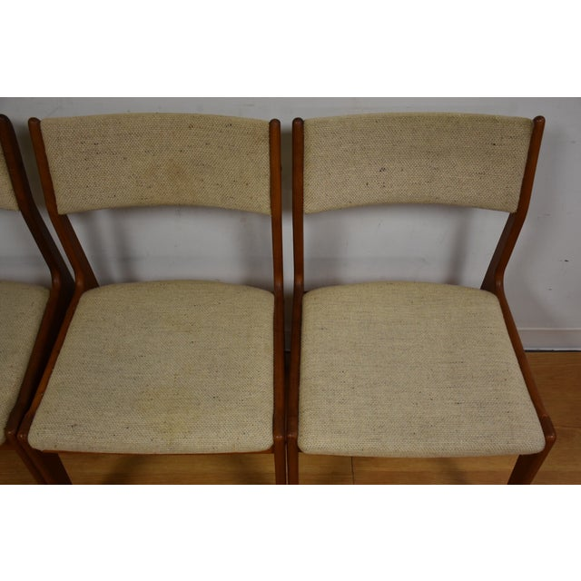 Teak Dining Chairs - Set of 4 - Image 4 of 11