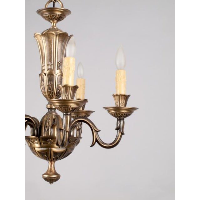 French Gilded Bronze Chandelier circa 1920's - Image 5 of 9