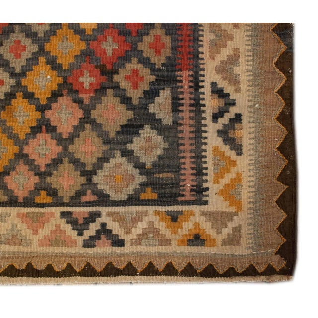 Image of Early 20th Century Saveh Kilim Runner