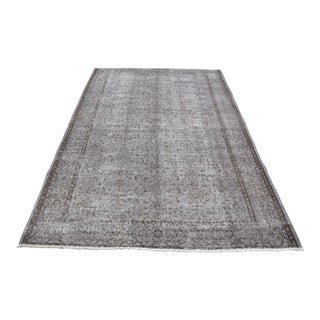 Overdyed Handknotted Antique Turkish Wool Rug - 5′7″ × 8′7″