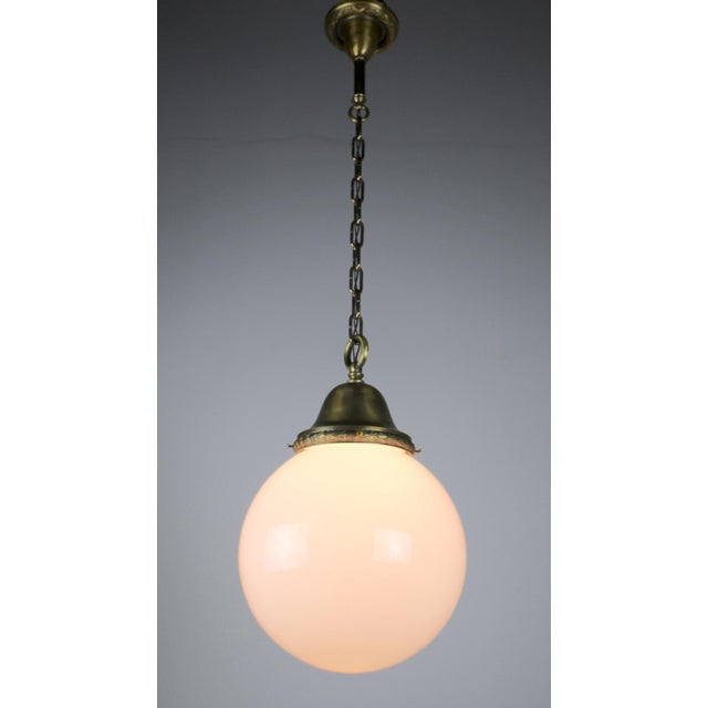 Pendant Fixture with Ball Shade - Image 3 of 6