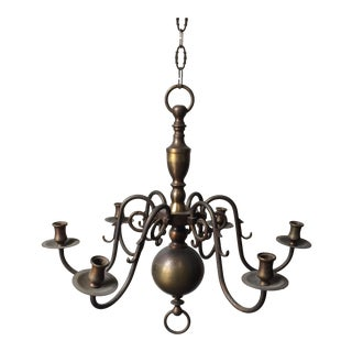 Antique Brass Candle Holder Chandelier
