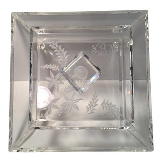 Vintage Etched Lucite Box