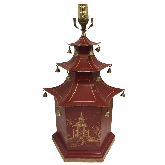 Chinoiserie Pagoda Table Lamp - Image 1 of 8