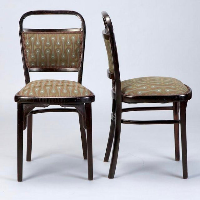 Set of 4 Otto Wagner Secessionist Walnut Dining Chairs - Image 3 of 10