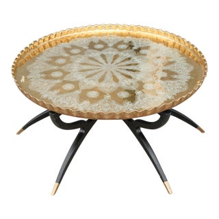 Brass Moroccan Tray Coffee Table