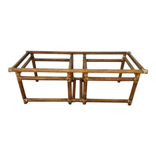 McGuire Rattan Coffee Table