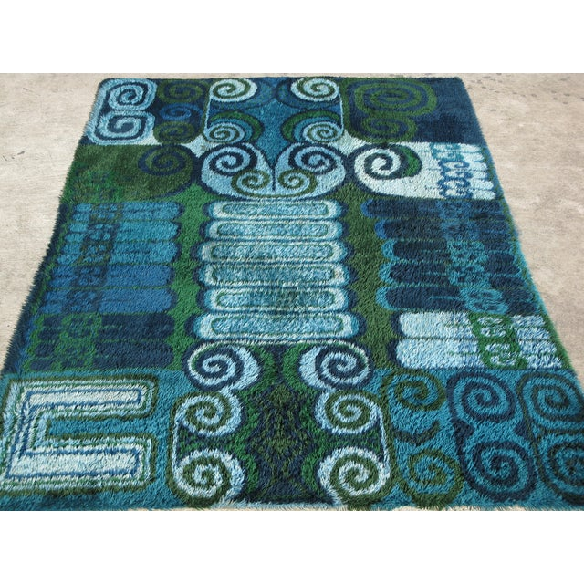 Room Size Vintage Scandinavian Rug - 7′10″ × 11′4″ - Image 4 of 4