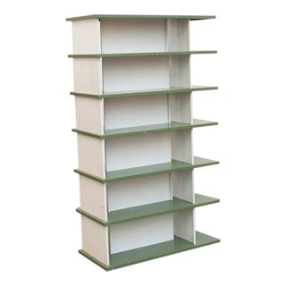 Rare Wim Rietveld Enameled Metal Bookshelf