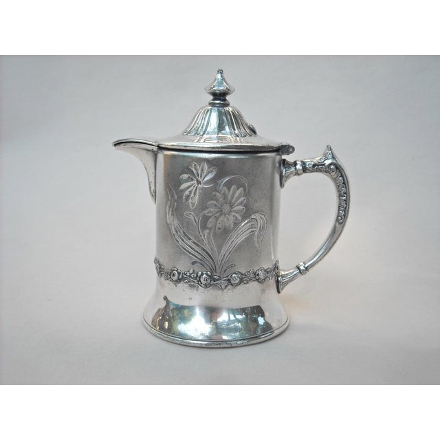 Image of Victorian Silver Plate Syrup Pitcher Pairpoint