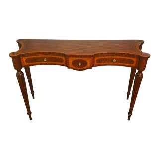 Maitland-Smith Inlaid Hand Carved Console Table