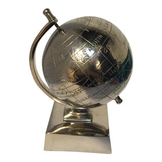 Small Nickel Silver Metal Globe