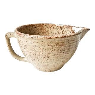 Vintage Western Stoneware Maple Leaf Mixing Bowl