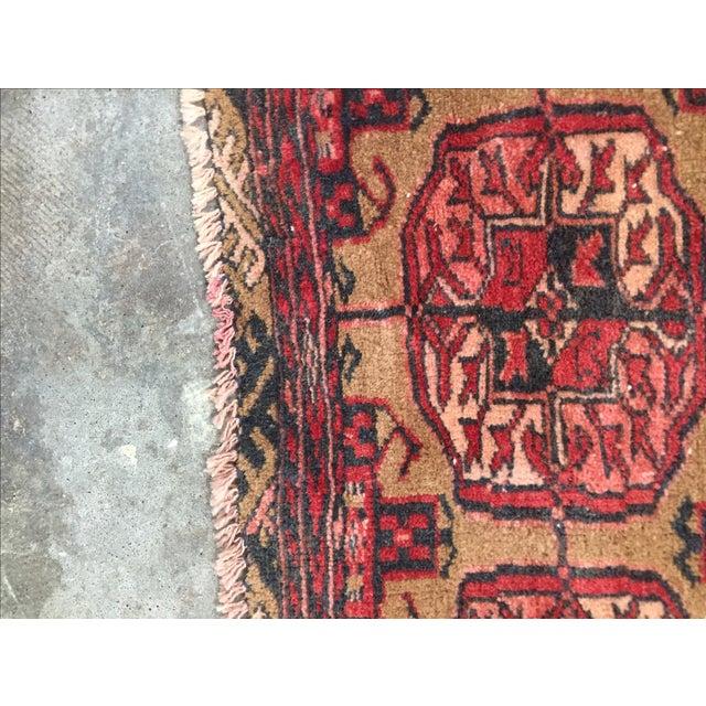 "Vintage Turkaman Persian Rug - 2'1"" X 2'7"" - Image 7 of 7"