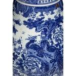 Image of Large Blue & White Phoenix Jars - Pair