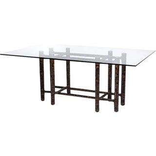 McGuire Rectangular Black Bamboo Dining Table