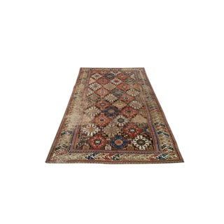 4′4″ × 7′7″ Antique Persian Caucasian Shirvan Knotted Rug - Size Cat. 5x7 5x8