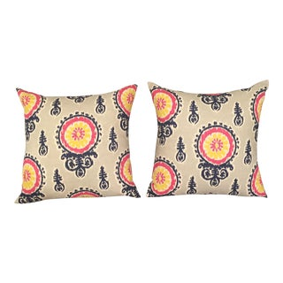 Ikat Suzani Pillow Covers - a Pair
