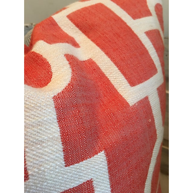 Geometric Coral and Off White Pillows - 2 - Image 4 of 5