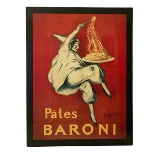 """Leonetto Cappiello """"Pates Baroni"""" Lacquered Poster Wall Art"""