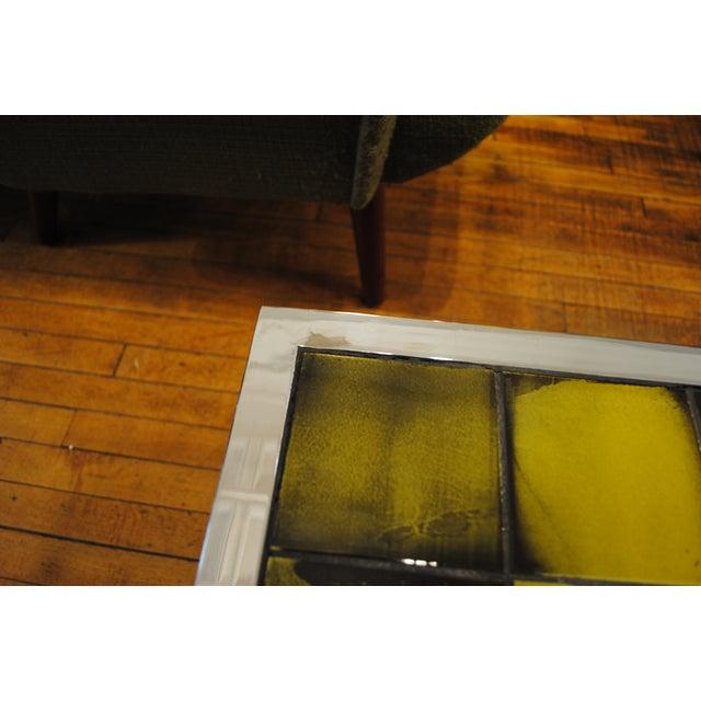 Tile and Chrome Danish Modern Coffee Table - Image 8 of 8