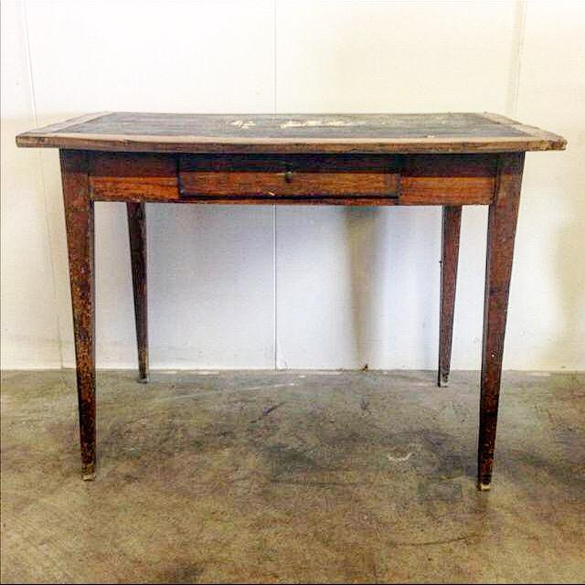 French Vintage Desk With Drawer - Image 2 of 10