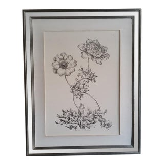 Mirrored Frame Floral Print