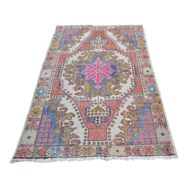 Oushak Anatolian Carpet - 4′5″ × 6′10″ - Image 1 of 6