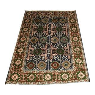 Vintage Persian Caucasian Perpedil Design Tabriz Rug- 3′ × 5′