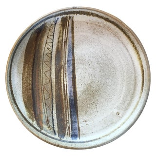 Mid-Century Studio Pottery Platter Plate Signed