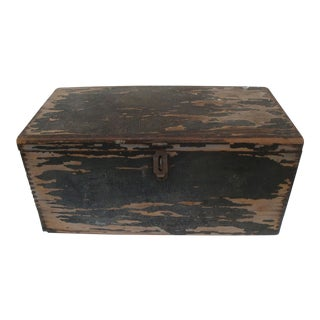 Rustic Primitive Wood Storage Chest