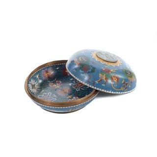 Chinese 19th C. Qing Dynasty Cloisonné Lidded Box