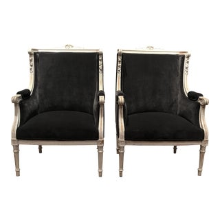 French Antique Louis XVI Style Chairs - Pair