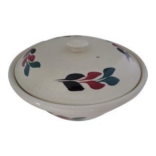 Vintage Hand Painted Lidded Bowl