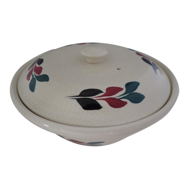 Vintage Hand Painted Lidded Bowl - Image 1 of 7