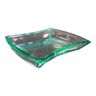 Fontana Arte Aquamarine Glass Bowl