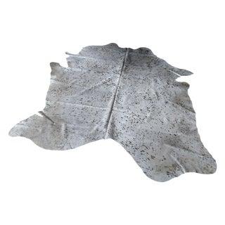 Gambrell Renard Silver Metallic Hide Rug - 6′10″ × 7′6