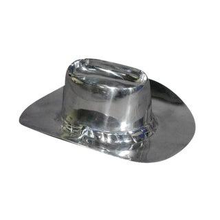 Heavy Polished Aluminum Cowboy Hat Chip & Dip Centerpiece