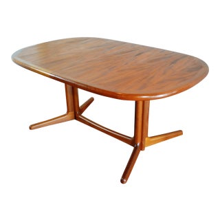 E. Valentinsen Danish Teak Expandable Dining Table