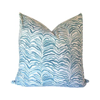Lacefield Designs' Serengeti Seaside Blue Animal Print Custom Pillow Cover