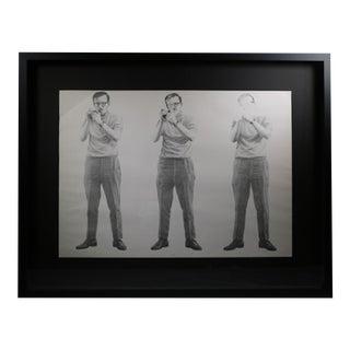 """Smoker"" Charcoal Sketch Signed Gooch, 1970"