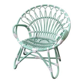 Indonesian Rattan Chair With Synthetic Rope