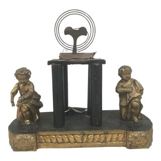 Moving Putti Gilded Clock Casing