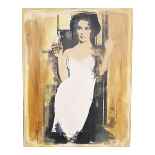 """Elizabeth Taylor"" Painting by Patrick McCarthy"