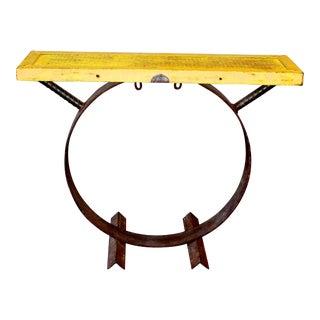 Repurposed Tractor Table