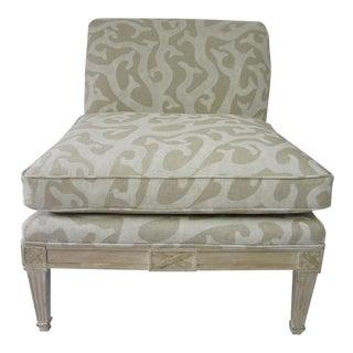 Regency Slipper Chair in Natural Coral