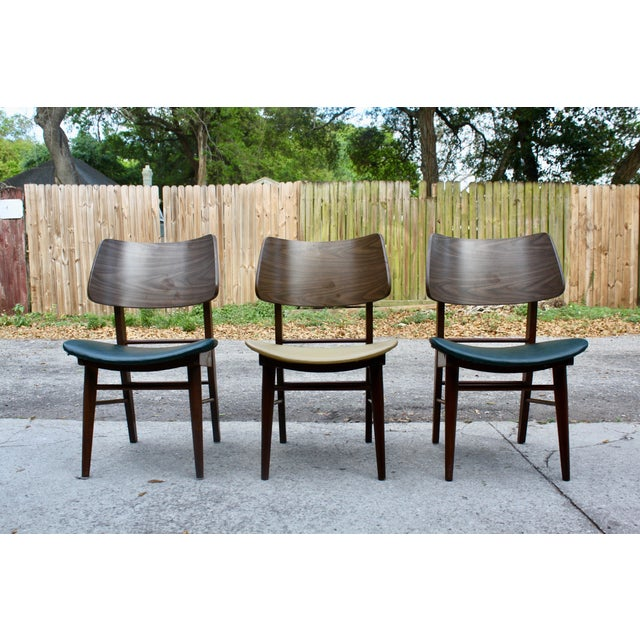 Mid-Century Modern Clam Shell Chairs - Set of 3 - Image 2 of 8