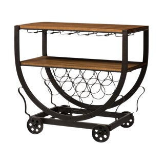 Industrial Wine Cart